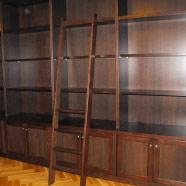 Bibliothek in Eiche (gebeizt)