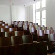 Restauration des Hörsaals des Forschungsinstitutes Leder und Kunststoff in Freiberg