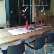 Sitzgruppe aus Mahagonimassivholz