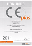 Urkunde - CE plus: System für Fenster und Fenstertüren aus Holz