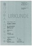 Urkunde - Andreas Göthel - Premiummitglied der ZEG